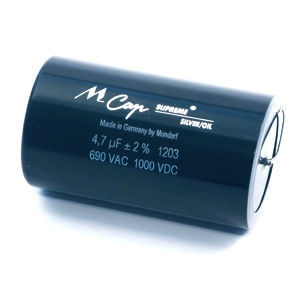 MUNDORF SUP.SO, 2,2uF/1000V, ±3%, Supreme Silver/Oil Cap.<br />Price per piece