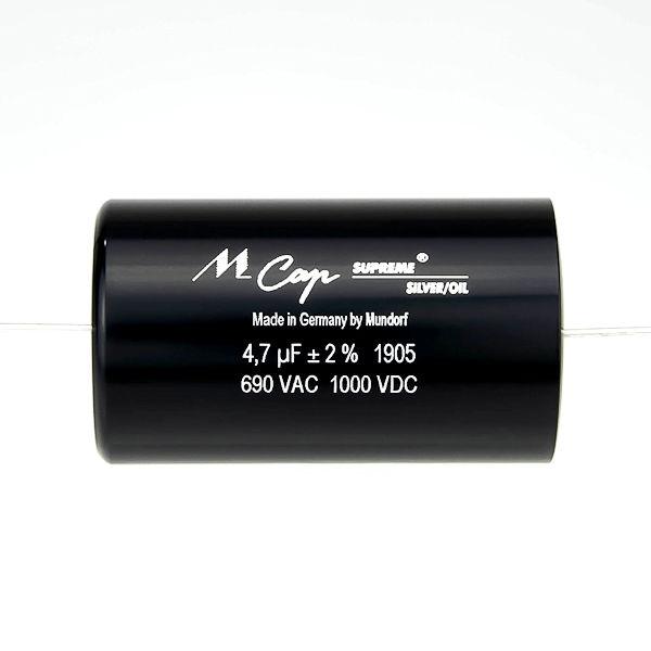 MUNDORF SUP.SO, 8,2uF/1000V, 2%, Supreme Silver/Oil Cap.<br />Price per piece
