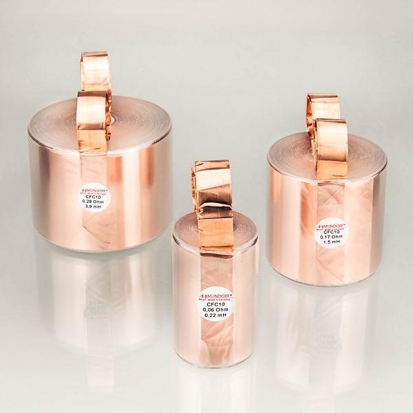 MUNDORF CFC10, 0,12mH, ±2% Luftspule, 70mm OFC Folie 70um<br />Price per piece