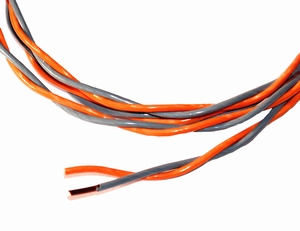 MUNDORF CUW215GY/OG, 2Ø1,8mm2 OFC Copper wire<br />Price per meter