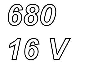 PANASONIC FC,  680uF/16V Radial electrolytic capacitor