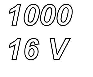 PANASONIC FC,  1000uF/16V Radial electrolytic capacitor
