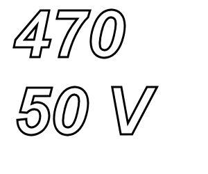 PANASONIC FR, 470uF/50V Radial Power Supply capacitor