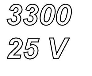 PANASONIC FR, 3300uF/25V Radial Power Supply capacitor