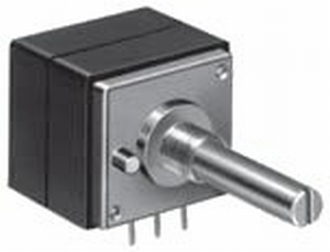 ALPS High-end stereo potentiometer,100k linear, PCB mounting<br />Price per piece