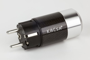 KACSA HD power plug, rhodium plated contacts, 16A/250V<br />Price per piece