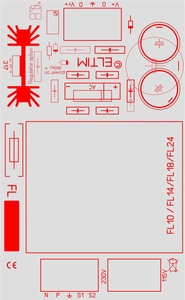 ELTIM PSFL18-8, Single Power supply module, 8V, 18VA