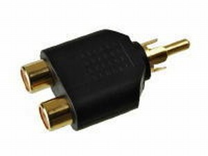 KACSA AA-648G, cinch male/2x cinch female adaptor