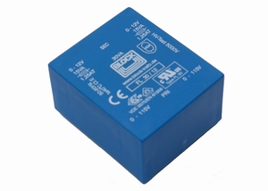 BLOCK FL transformer, PCB mount, 14VA, 2x115V > 2x12V