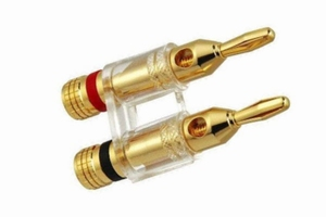 KACSA BP-214GT, gold plated twin banana plug. max. 4mm2 cabl<br />Price per piece