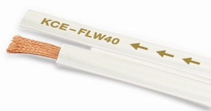 KACSA KCE-FLW40, 2x 4,0 mm2 OFC Loudspeaker cable with pearl<br />Price per meter