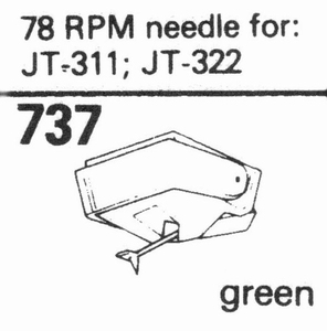 78 RPM FOR NAG JT-311/322 SER Stylus, DN<br />Price per piece