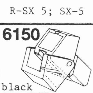 A.D.C. R-PSX-5 - BLACK Stylus, DS<br />Price per piece