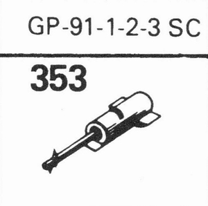 ACOS GP-91 SCDOUBLE DIAM Stylus, DS/DS<br />Price per piece