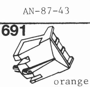 AIWA AN-57-43 ELLIPTICAL Stylus, DE