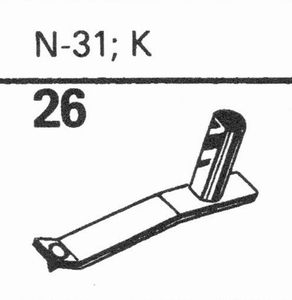 ASTATIC N-31, K Stylus, DS<br />Price per piece