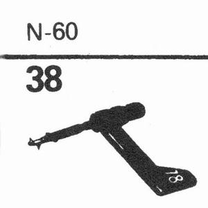 ASTATIC N-60 Stylus, sapphire normal (78rpm) + sapphire ster