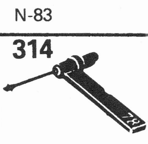 ASTATIC N-83 Stylus, SS/DS<br />Price per piece