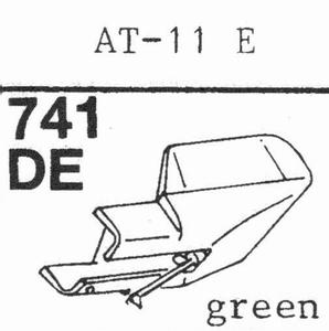AUDIO TECHNICA AT-11 E GREEN Stylus, DE