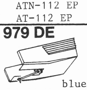 AUDIO TECHNICA AT-112 EP BLUE Stylus, DE<br />Price per piece
