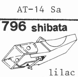 AUDIO TECHNICA AT-14 SA Stylus, SHIBATA<br />Price per piece