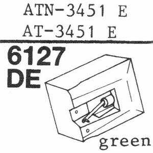 AUDIO TECHNICA AT-95E AT-3451E Stylus, DE-OR PACK