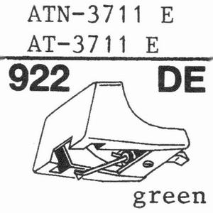 AUDIO TECHNICA ATN-3711E GREEN Stylus, DE<br />Price per piece
