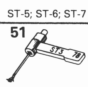B.S.R. ST-5, ST-6, ST-7 Stylus, SS/DS<br />Price per piece