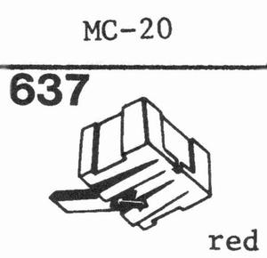 C.E.C. MC-20 Stylus, diamond, elliptical