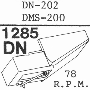 DUAL DN-202(78 RPM !) Stylus, COPY<br />Price per piece