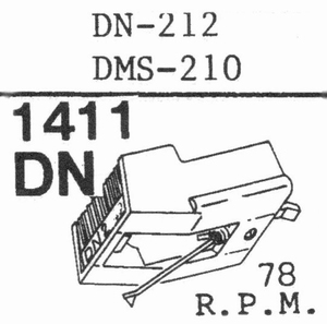 DUAL DN-212 (78 RPM)  Stylus, COPY<br />Price per piece