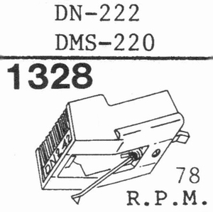 DUAL DN-222 (78 RPM)  Stylus, DN-COPY<br />Price per piece