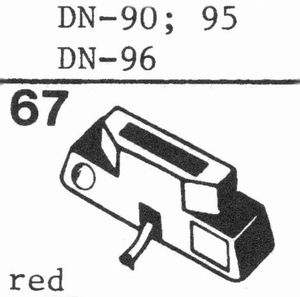 DUAL DN-96 78 RPM DIAMOND Stylus, DN<br />Price per piece