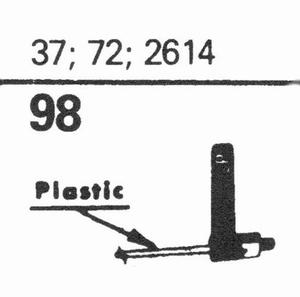 ELECTRO VOICE 37; 72; 2614 Stylus, SN/DS