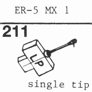 ELECTRONIC REPR. ER 5 MX 1 Stylus, DS<br />Price per piece