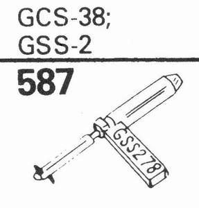 GARRARD GCS-38 DOUBLE DIAMOND Stylus, DS/DS<br />Price per piece
