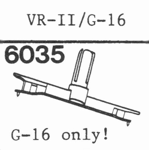 GENERAL ELECTRIC VR-II, G-16! Stylus, SN/DS