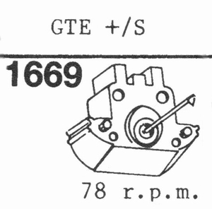 GRADO GTE+/S78 R.P.M.!!!!! Stylus<br />Price per piece
