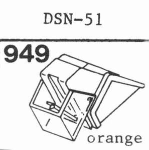 JAPAN COLUMBIA DSN-51 Stylus, DS<br />Price per piece