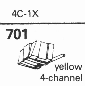 JELCO 4 C-1X Stylus, SHIBATA<br />Price per piece