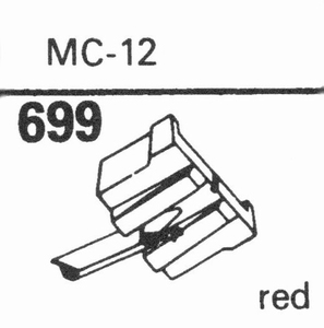 JELCO MC-12 Stylus, DS<br />Price per piece