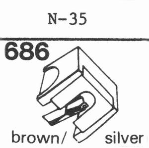 KENWOOD N-35 Stylus, DS<br />Price per piece