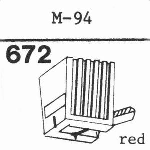 LENCO M-94 RED  Stylus, DS<br />Price per piece