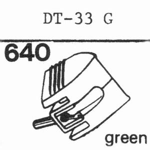NIVICO DT-33 GGREEN PLAST. Stylus, DS<br />Price per piece