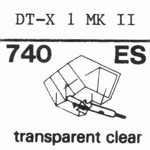 NIVICO DT-X 1 MK 2 ELLIPTICAL Stylus, diamond, elliptical
