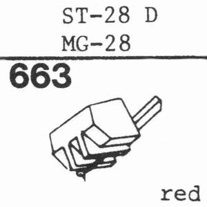 SANYO ST-28 D; MG-28 Stylus, DS<br />Price per piece