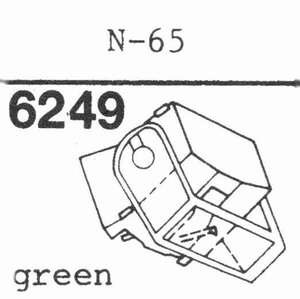 TRIO/KENWOOD N-65 GREEN Stylus, diamond, stereo