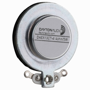 Dayton Audio DAEX13CT-4, Coin Type 13mm Exciter 3W 4 Ohm<br />Price per piece