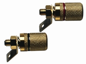 K10PR-AU, Speaker terminal pair, gold plated<br />Price per pair