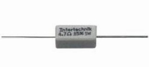 Wirewound ceramic resistor, 100Ω, 5W, 5%, axial<br />Price per piece